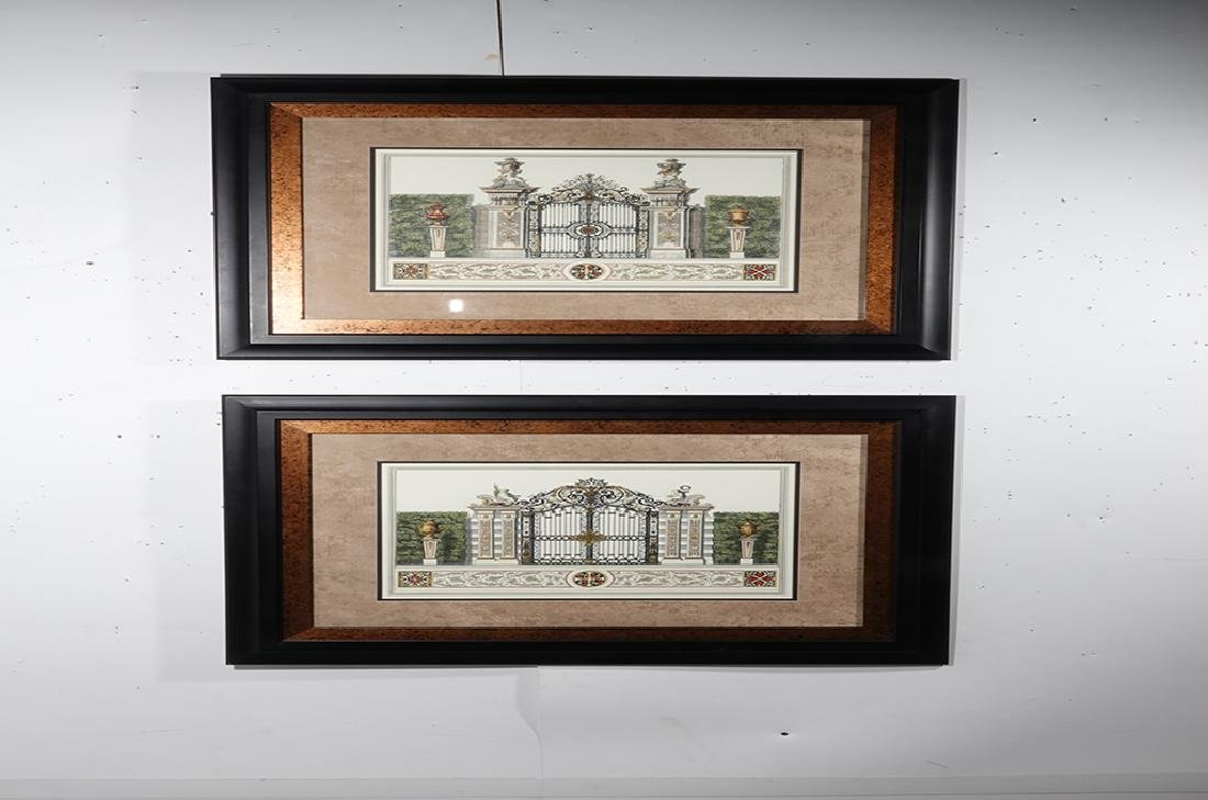 Pair Framed  Engravings of  Gates - 6