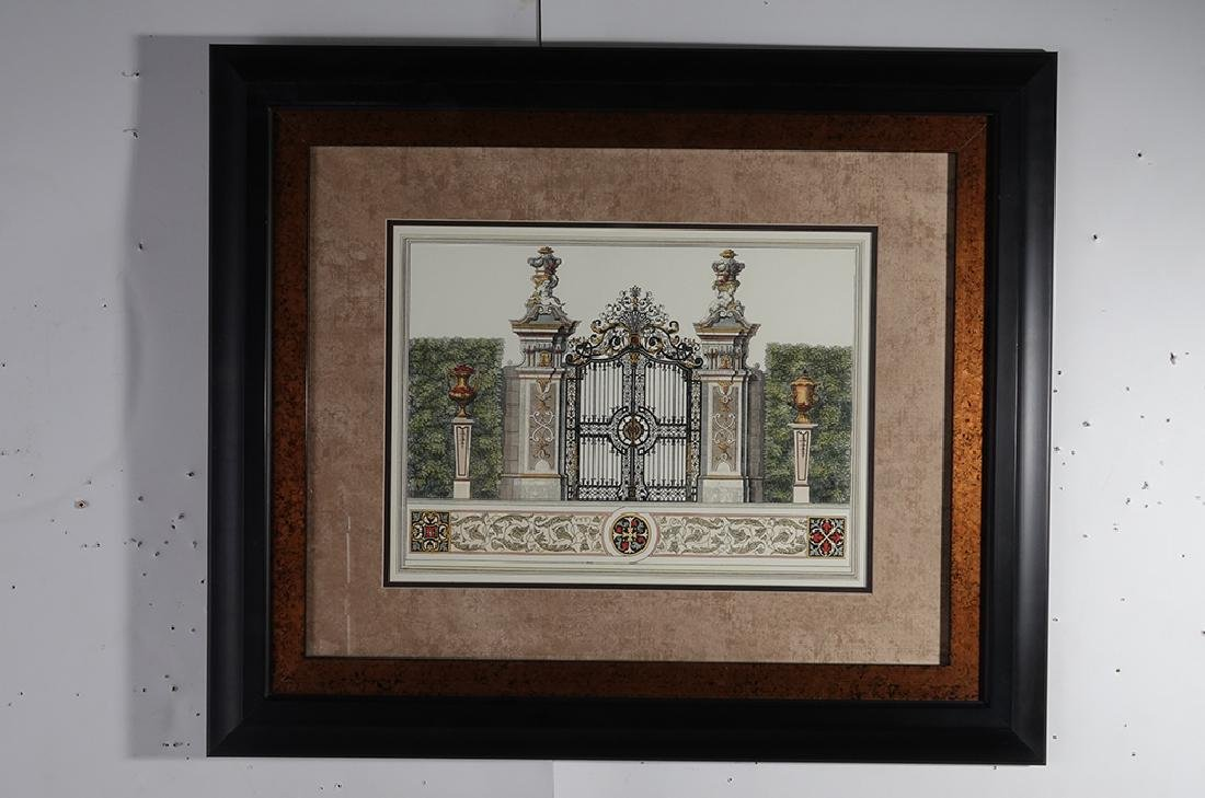 Pair Framed  Engravings of  Gates - 8
