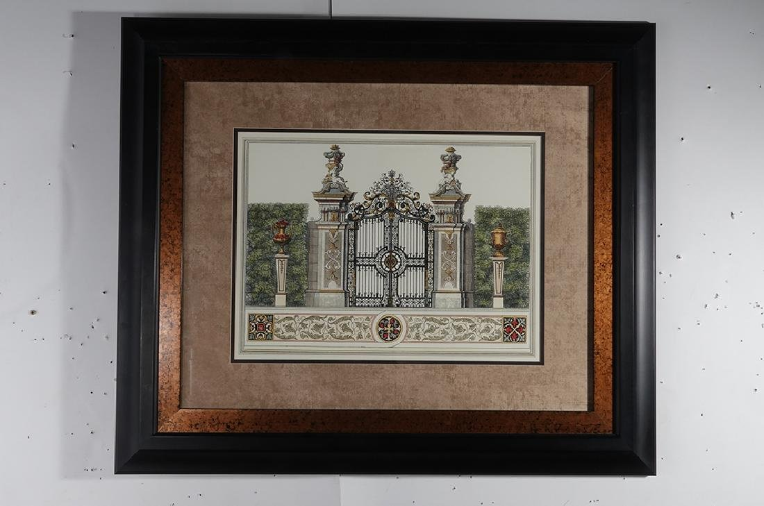 Pair Framed  Engravings of  Gates - 9