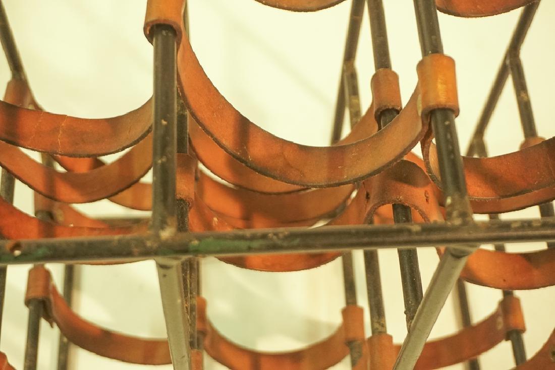 12 Bottle Iron & Leather Wine Rack by UMANOFF - 6
