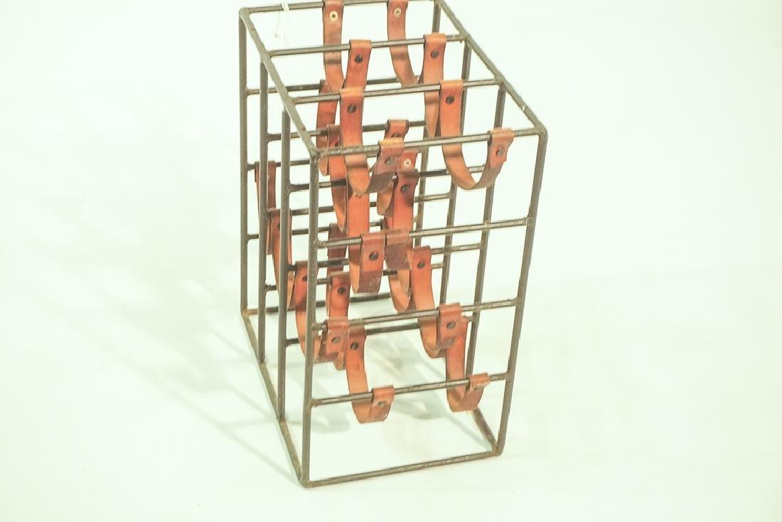 12 Bottle Iron & Leather Wine Rack by UMANOFF - 7