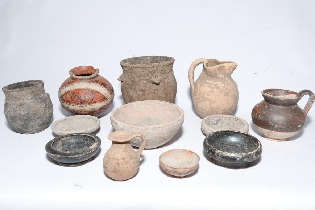 Eleven (11) Pre-Columbian Style Pots