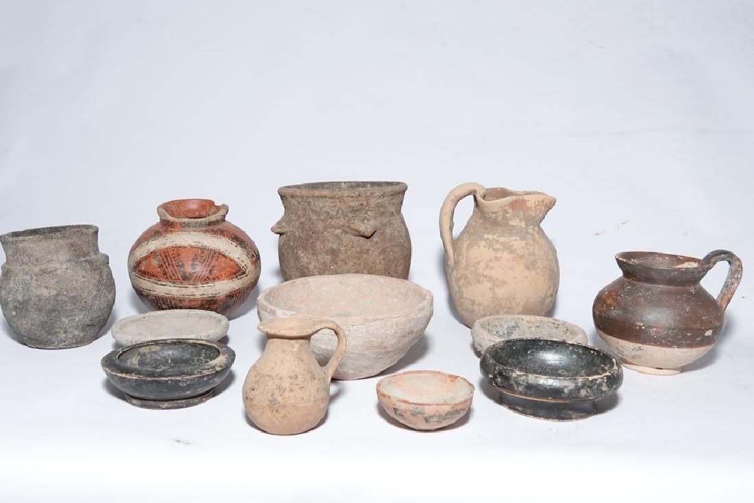 Eleven (11) Pre-Columbian Style Pots - 9