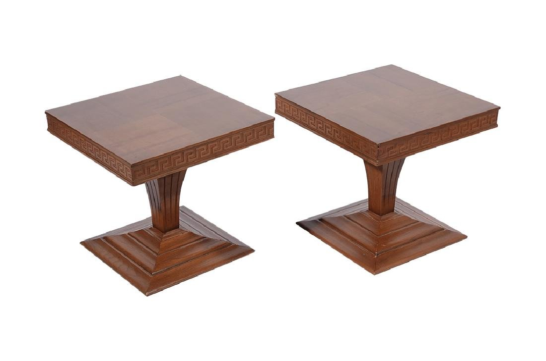 Pair of 60's Square End Tables