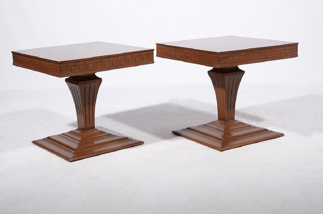 Pair of 60's Square End Tables - 2