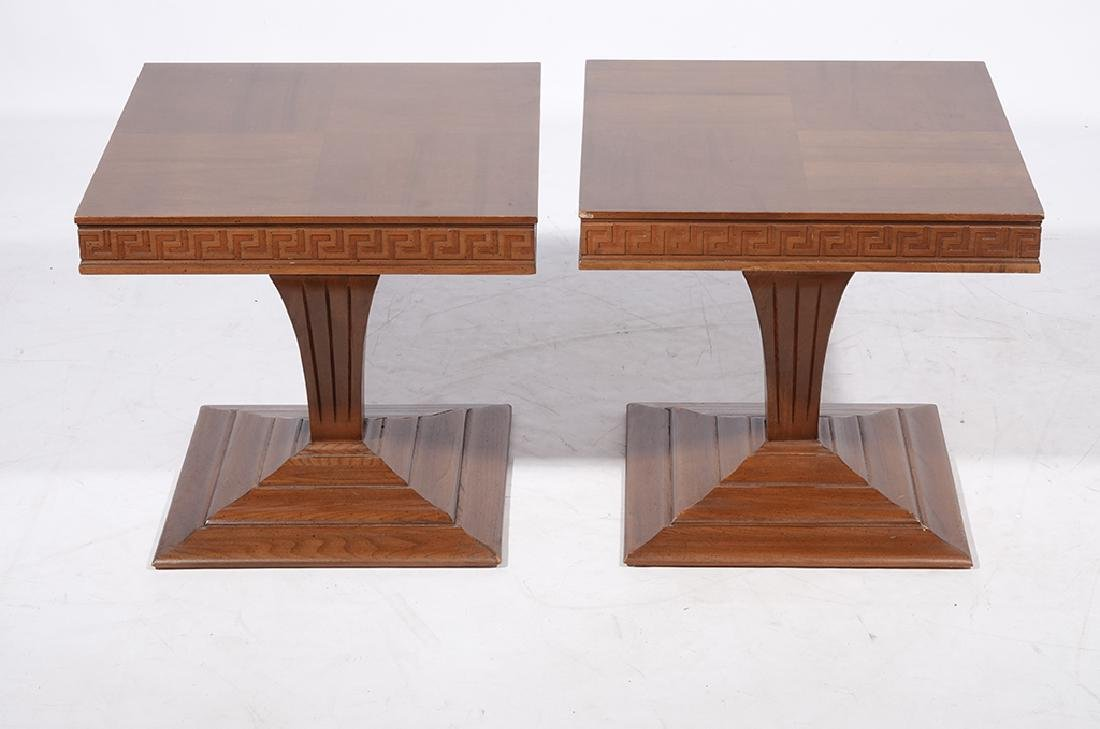 Pair of 60's Square End Tables - 3
