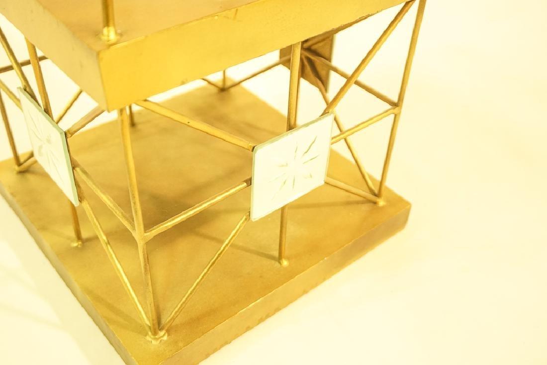 Pair Mid Century  Brass Obelisks - 7