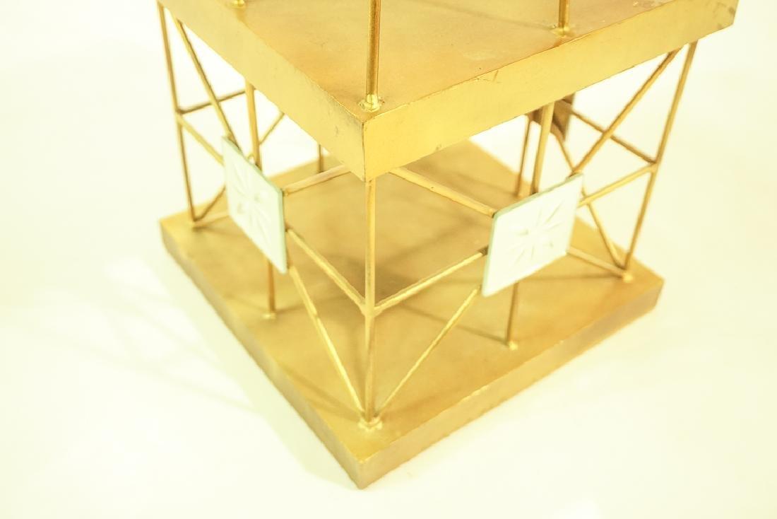 Pair Mid Century  Brass Obelisks - 8