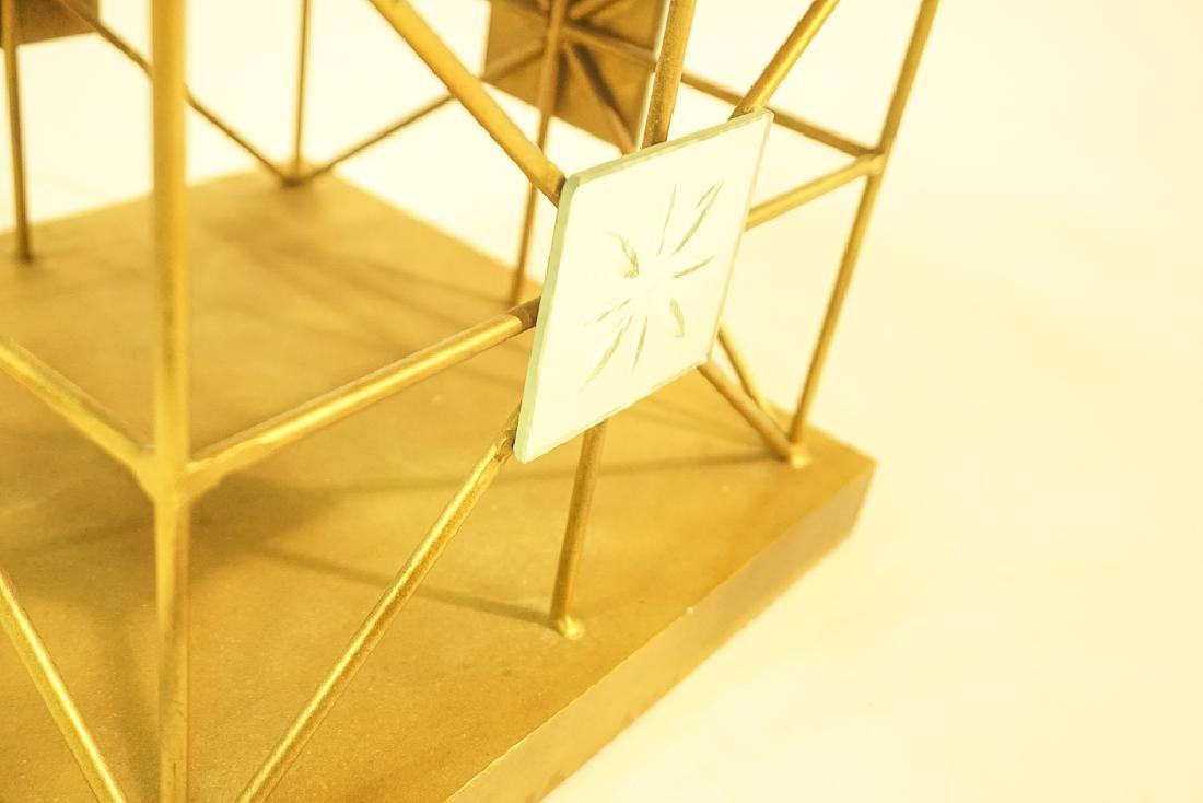 Pair Mid Century  Brass Obelisks - 9