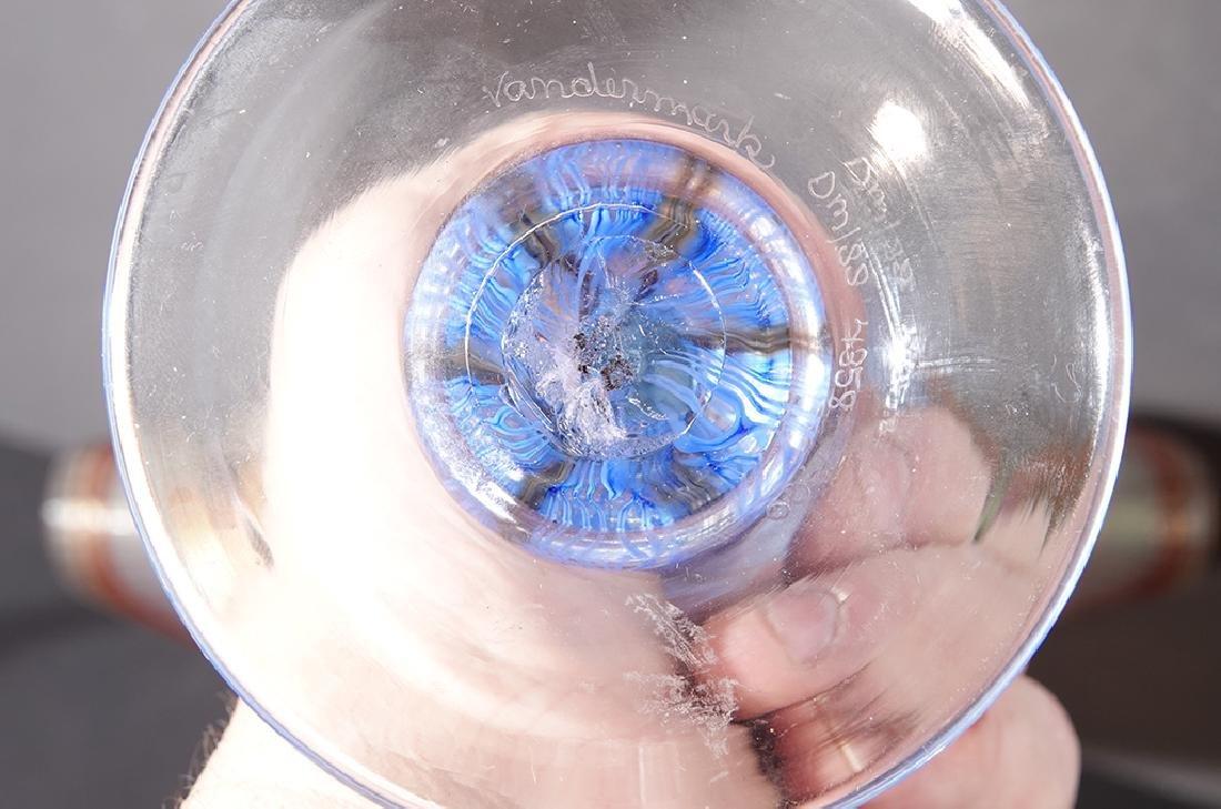 Pair of VANDERMARK Art Glass Vases - 4