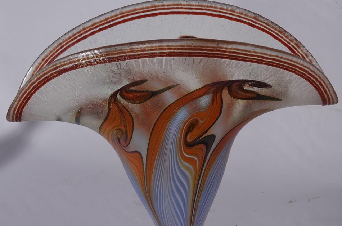Pair of VANDERMARK Art Glass Vases - 7