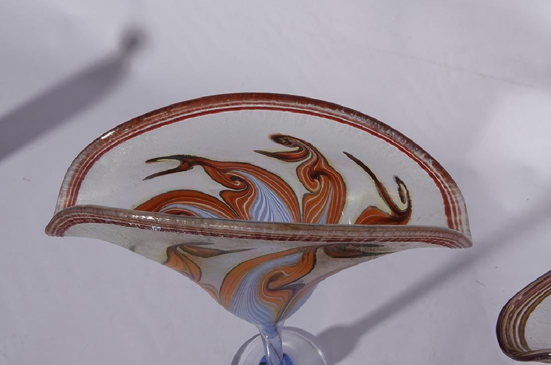 Pair of VANDERMARK Art Glass Vases - 8