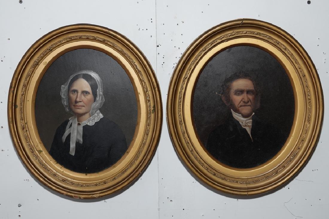 Pair 19th European  Portraits
