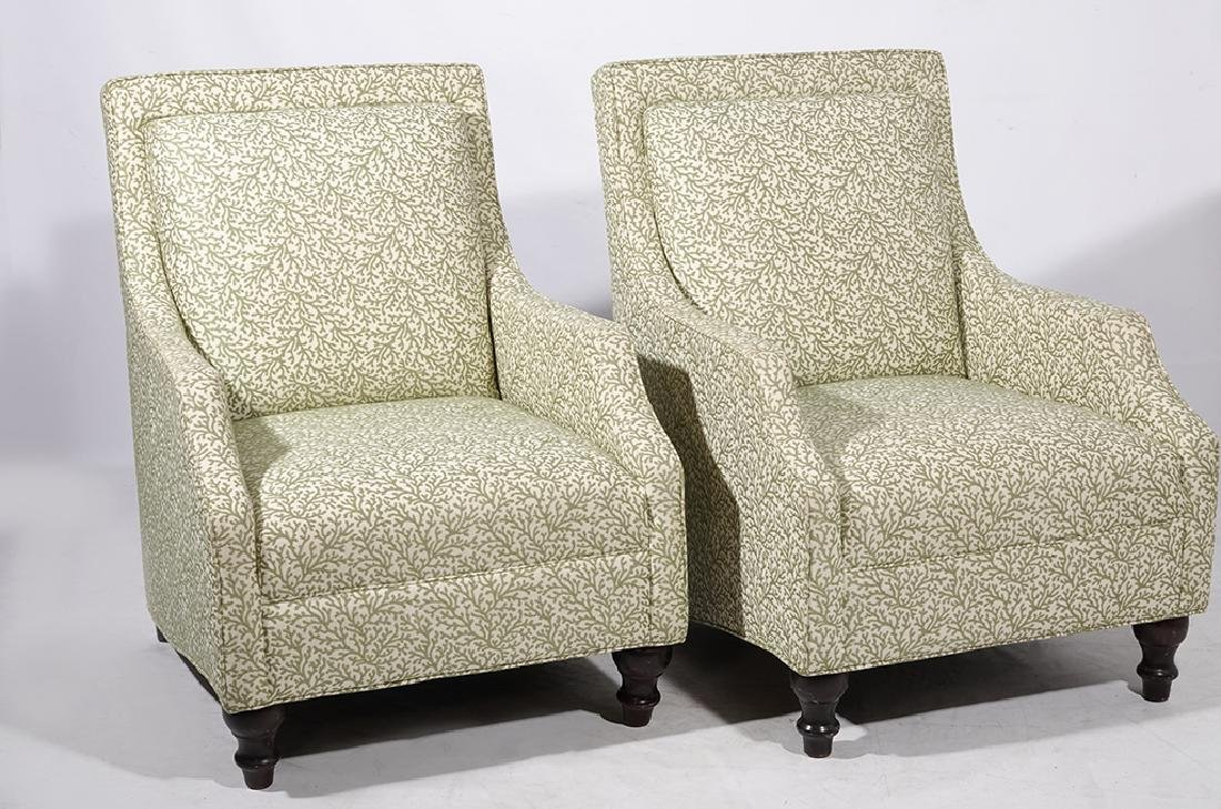 Pair Upholstered Club Chairs - 6