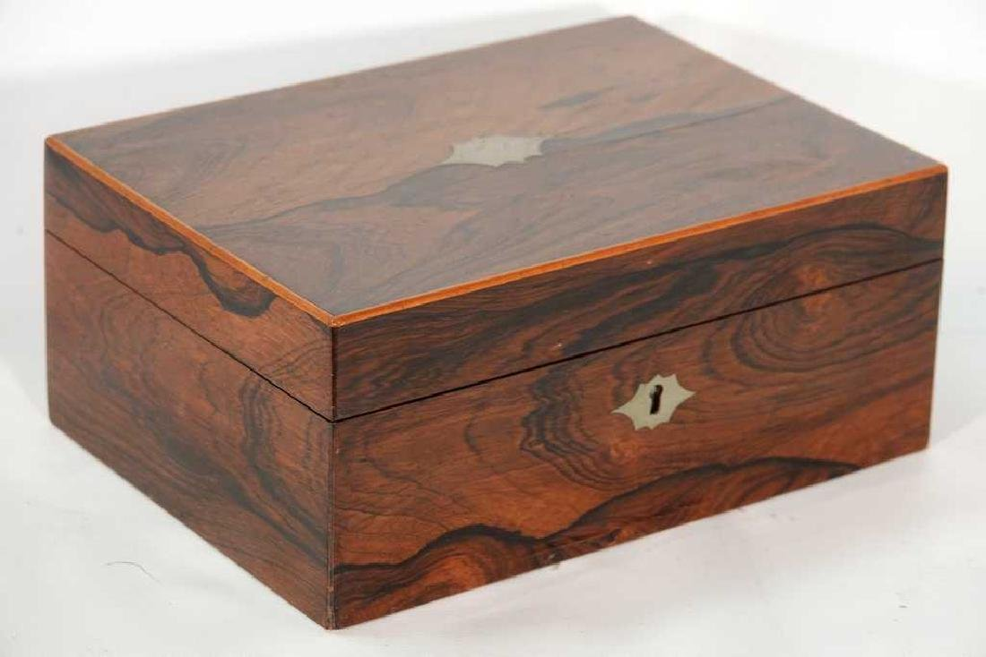 19th C. Rosewood Lady's Dressing Box