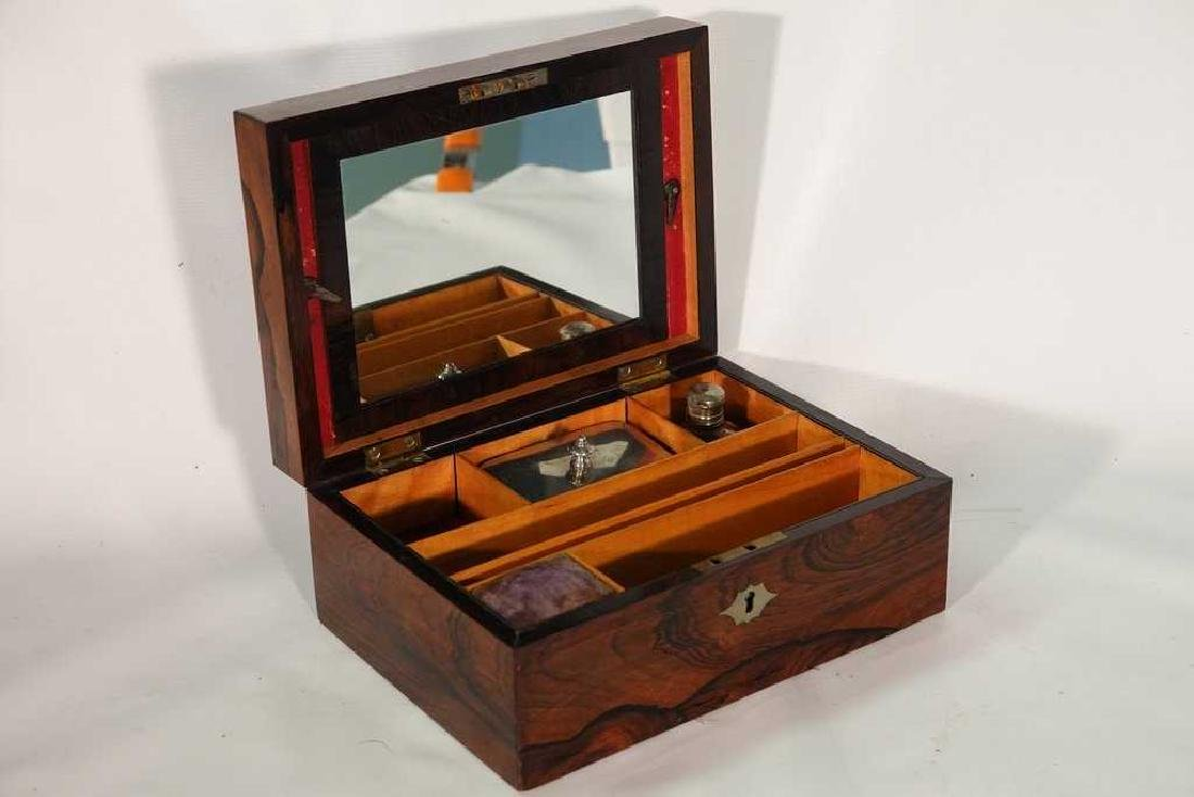 19th C. Rosewood Lady's Dressing Box - 5