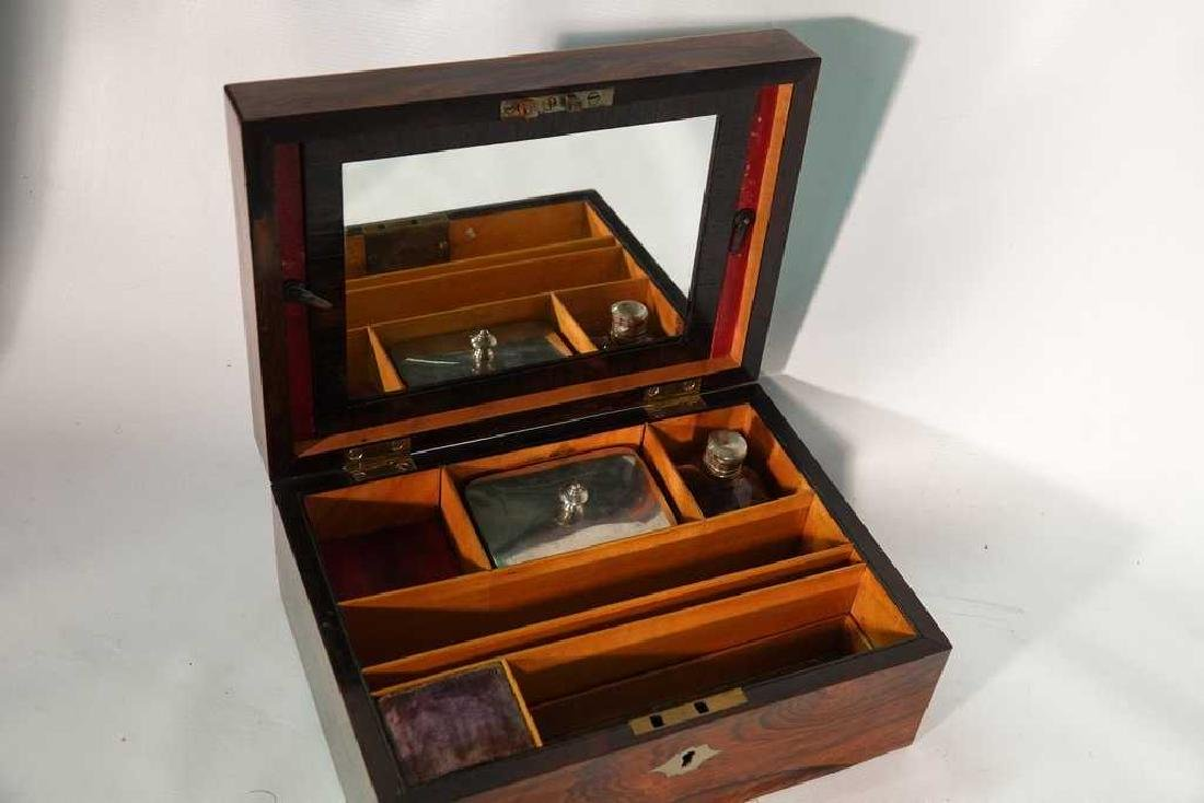 19th C. Rosewood Lady's Dressing Box - 6