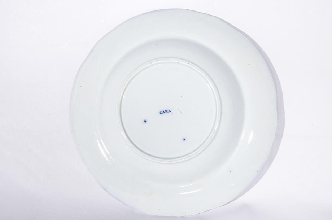 Set of Five (5) Bowls in Blue Flow Porcelain - 2
