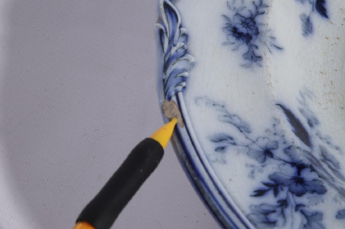 Set of Five (5) Bowls in Blue Flow Porcelain - 3