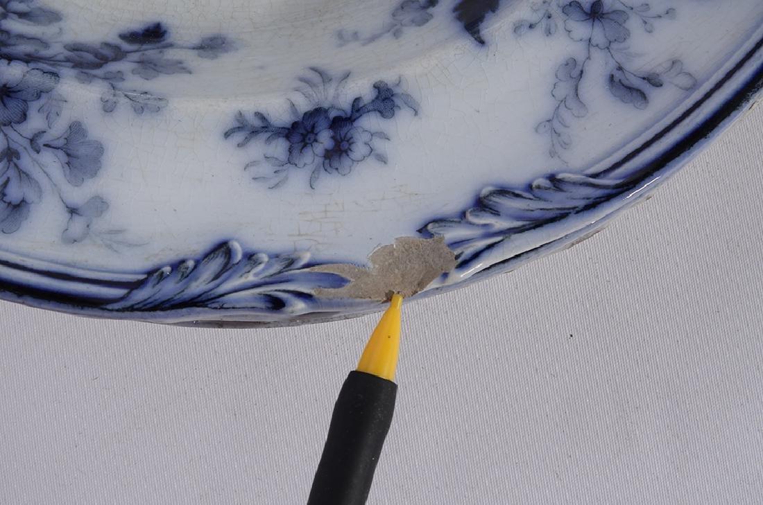 Set of Five (5) Bowls in Blue Flow Porcelain - 4