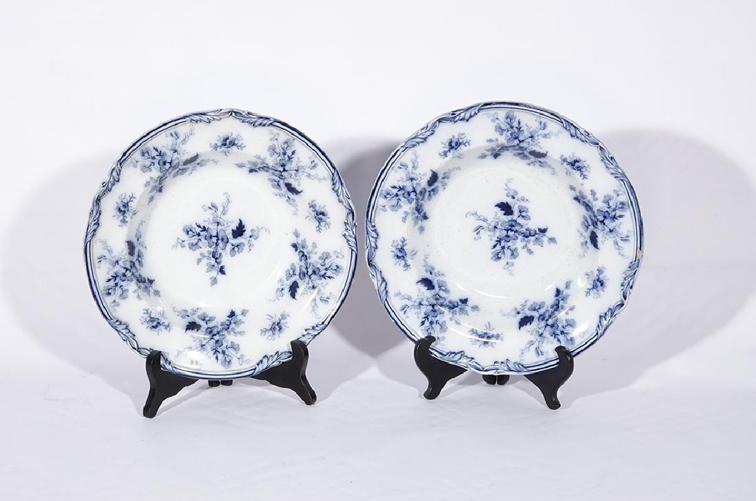 Set of Five (5) Bowls in Blue Flow Porcelain - 6