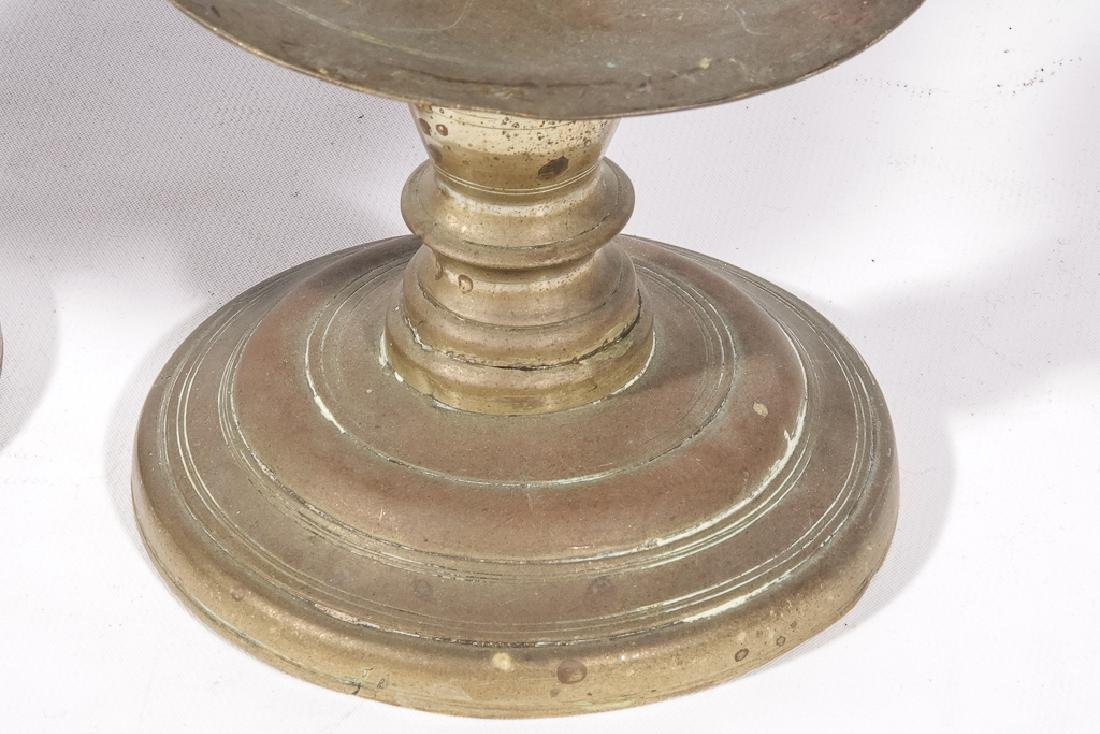 Two (2) Pairs of Brass Candlesticks - 6
