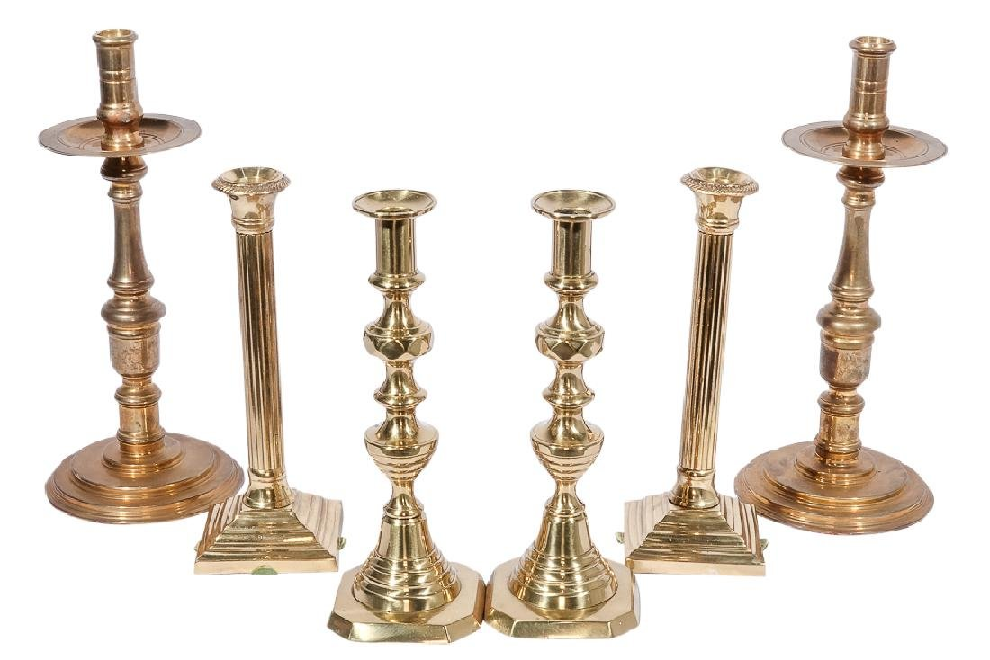 Three Pairs Bass Candlesticks