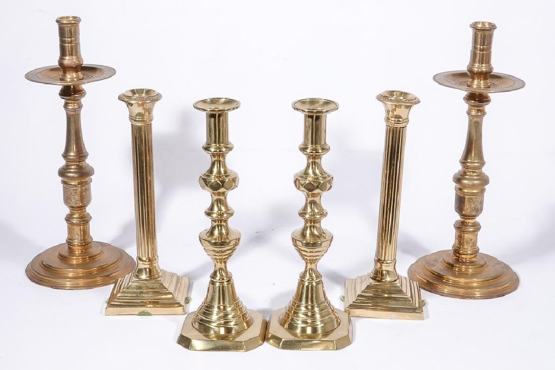 Three Pairs Bass Candlesticks - 3