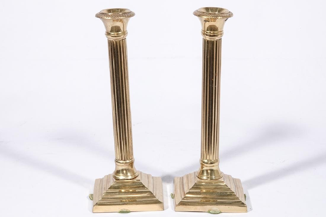 Three Pairs Bass Candlesticks - 8