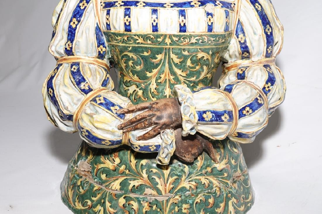Italian Majolica Figure of a Lady - 2