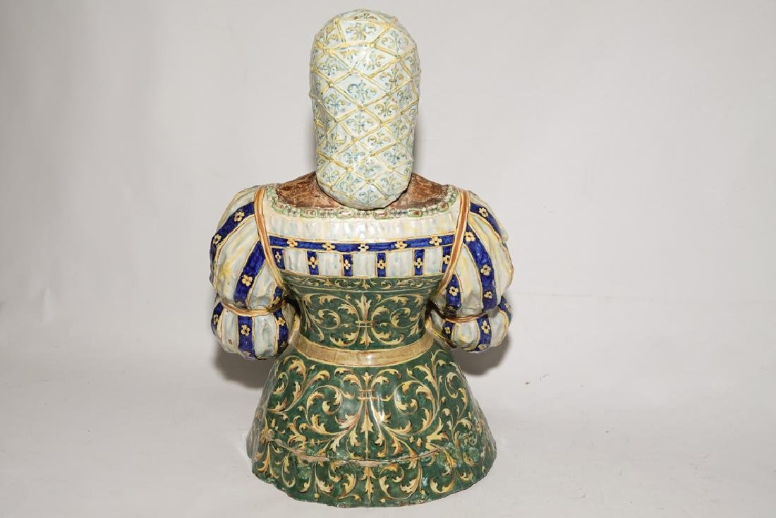 Italian Majolica Figure of a Lady - 3