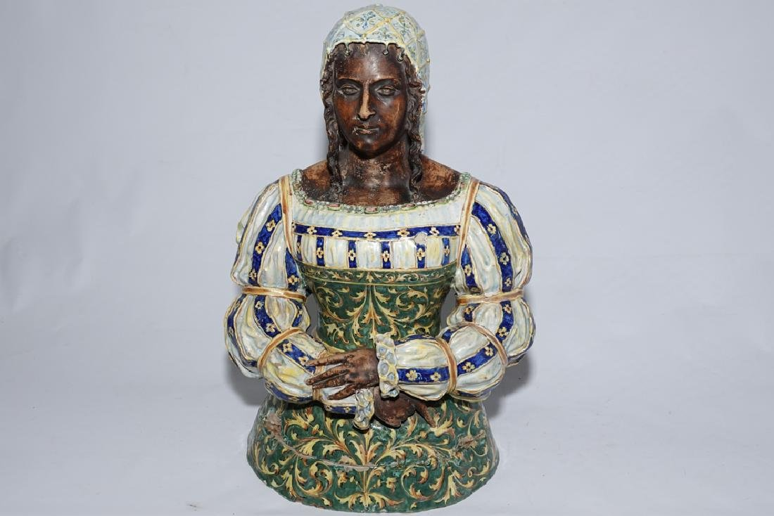 Italian Majolica Figure of a Lady - 7