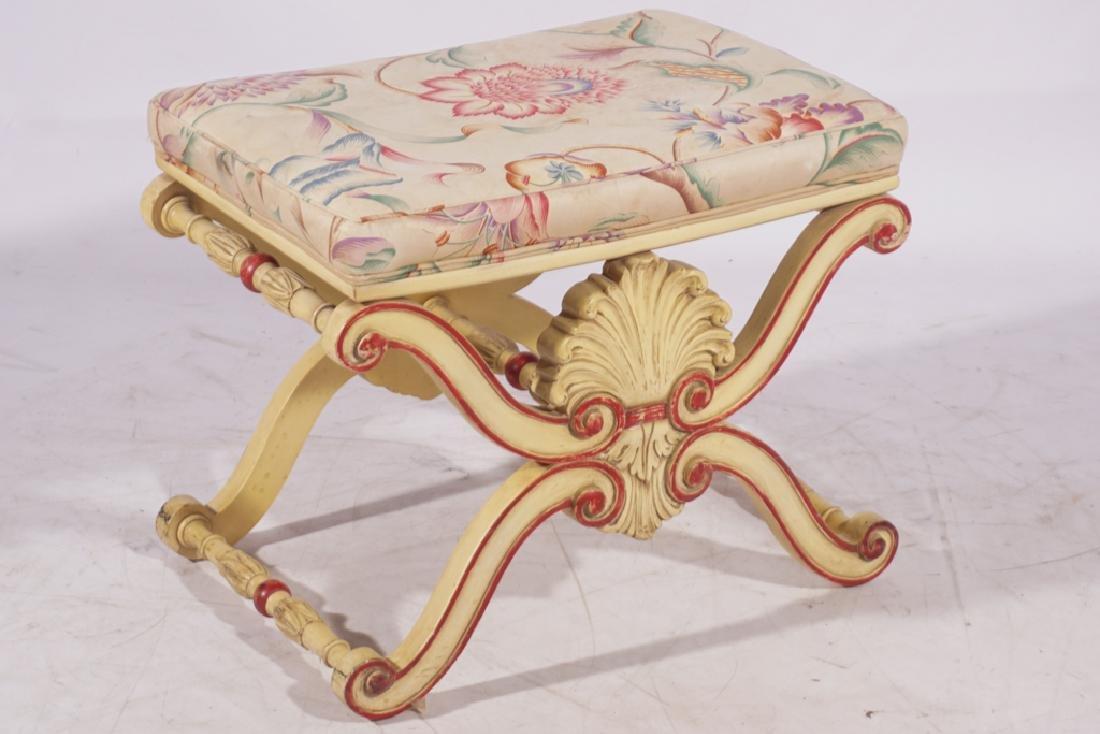 KARGES Pair Regency Style Painted Stools - 10
