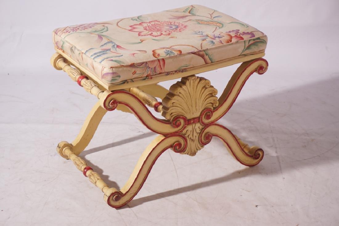 KARGES Pair Regency Style Painted Stools - 2