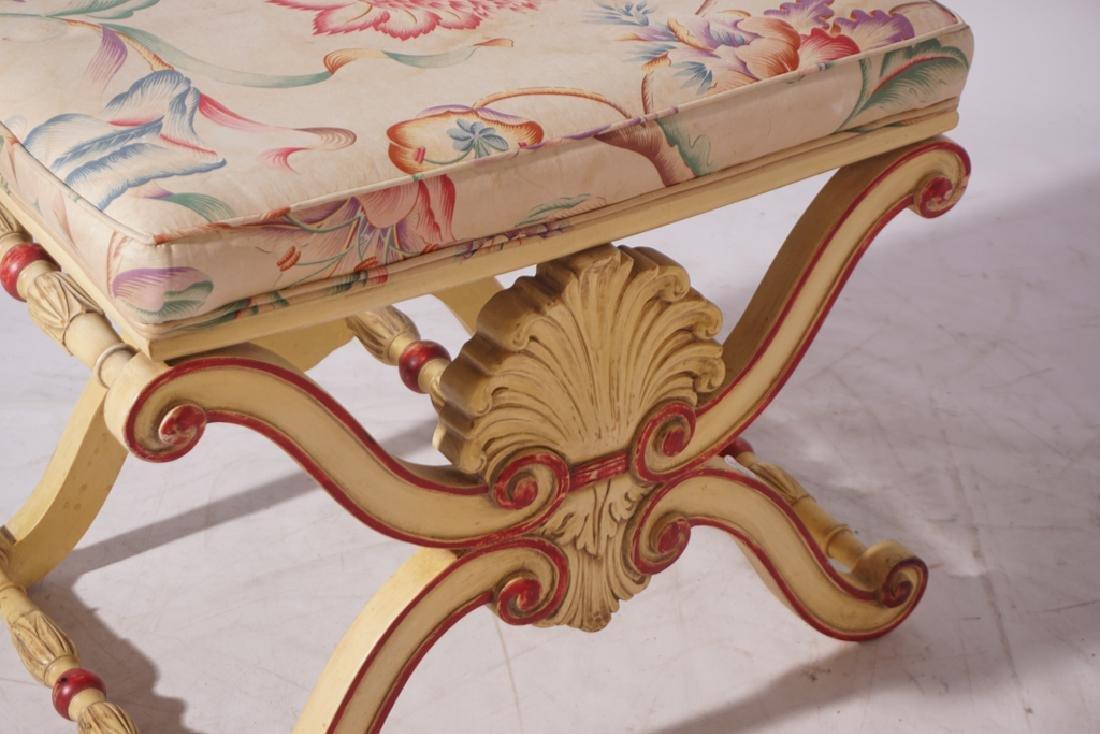 KARGES Pair Regency Style Painted Stools - 3
