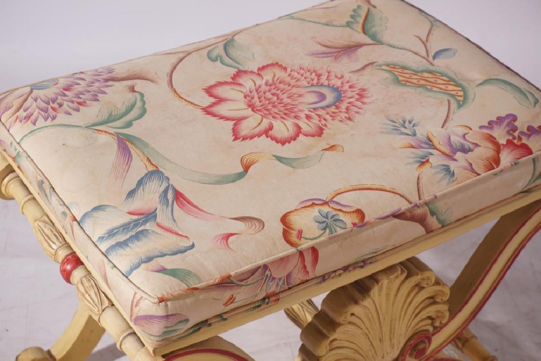 KARGES Pair Regency Style Painted Stools - 4