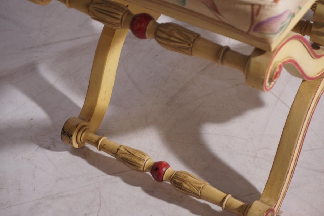 KARGES Pair Regency Style Painted Stools - 5