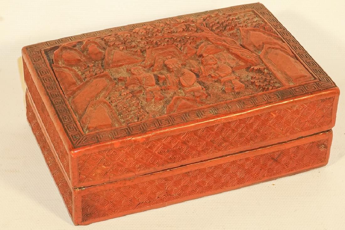 Antique Cinnabar Box