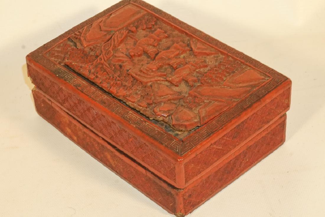 Antique Cinnabar Box - 5
