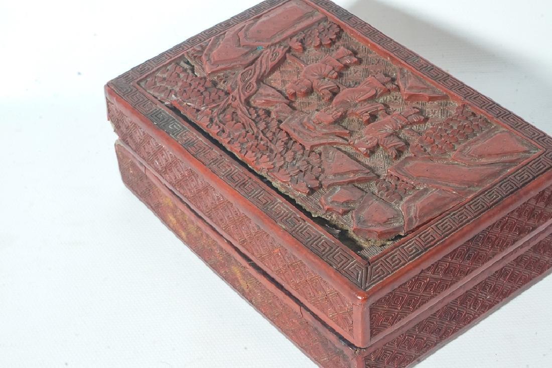 Antique Cinnabar Box - 6