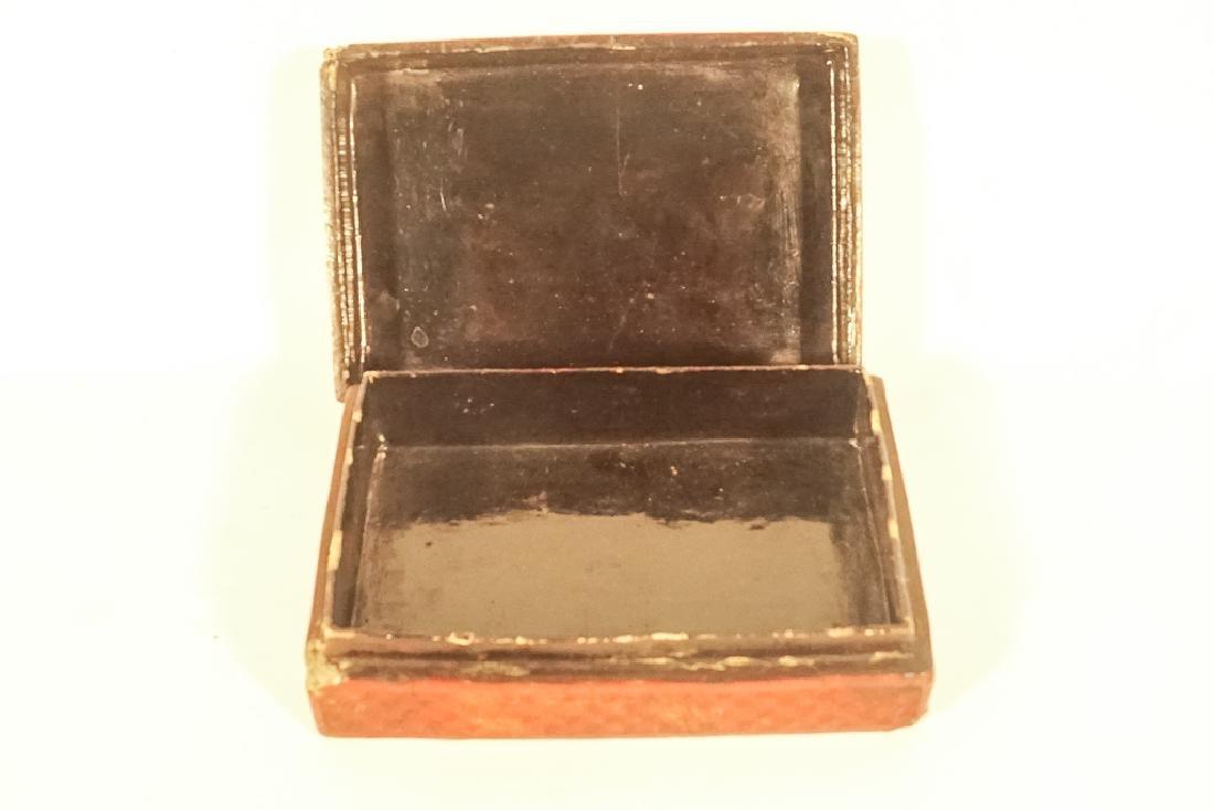 Antique Cinnabar Box - 7