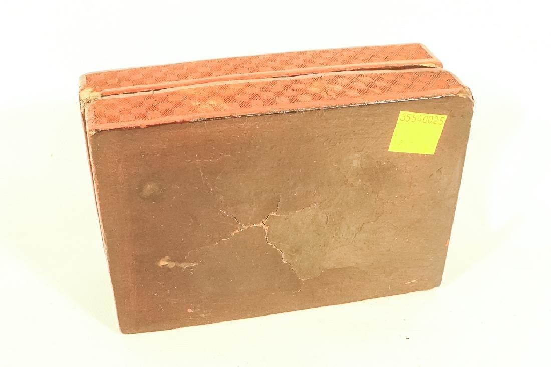 Antique Cinnabar Box - 8