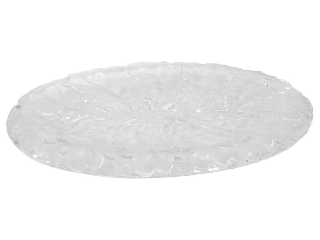 LALIQUE Style Pressed Glass Tray