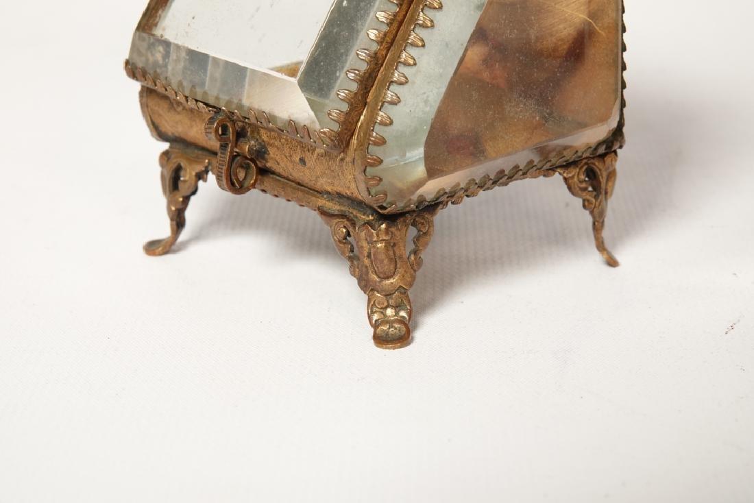 Napoleon III Miniature Gilt Metal Box - 10