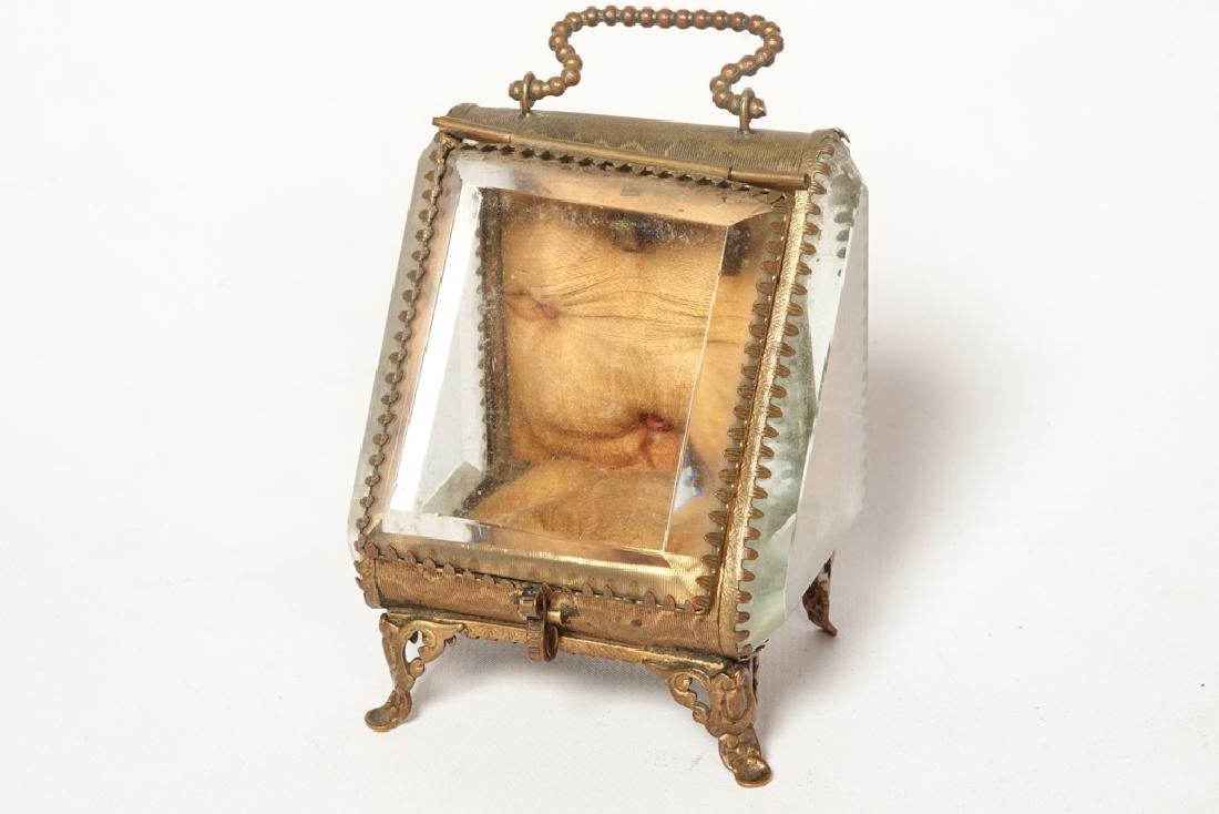 Napoleon III Miniature Gilt Metal Box
