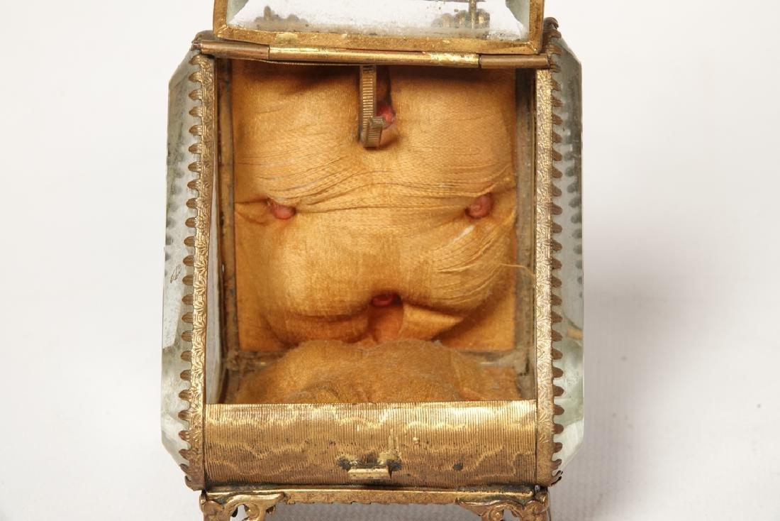 Napoleon III Miniature Gilt Metal Box - 5