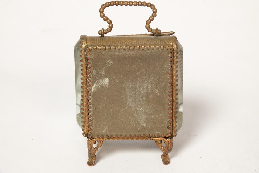 Napoleon III Miniature Gilt Metal Box - 7