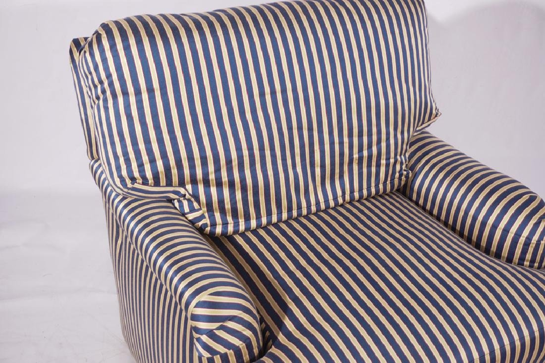 Pair Upholstered Club Chairs - 8
