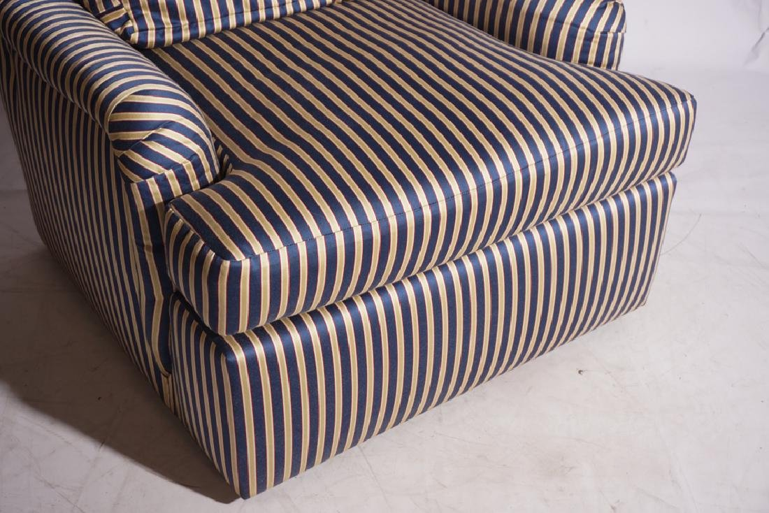 Pair Upholstered Club Chairs - 9