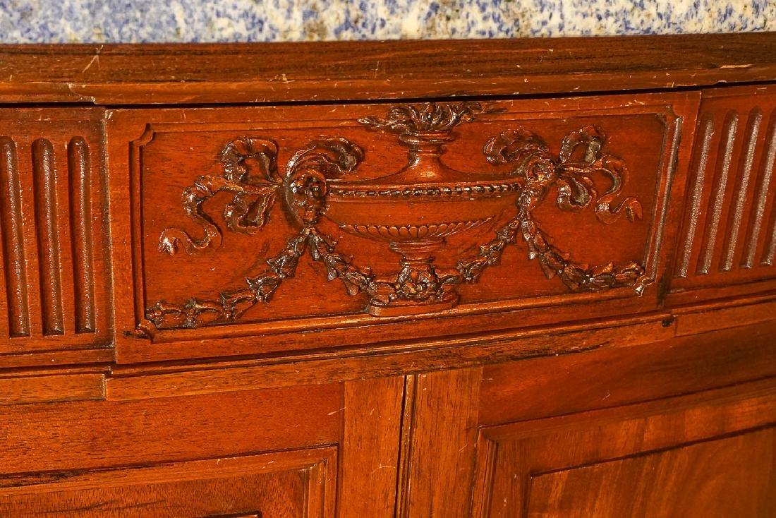 Louis XVI Style Demilune Console - 4